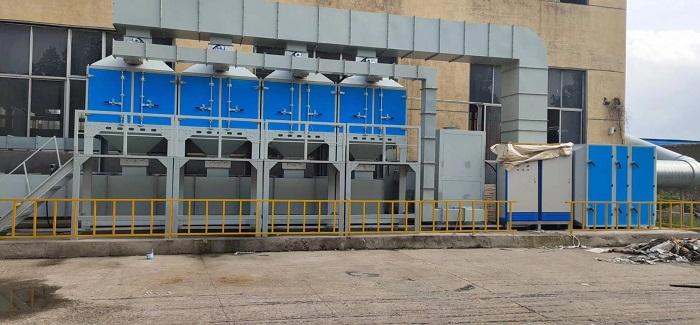 临沂钢结构喷漆废气处理工程